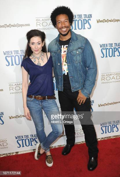 Actress Adrienne Wilkinson and actor Rico E Anderson arrive for the 'When The Train Stops' Los Angeles Premiere held at Cinelounge on December 9 2018...