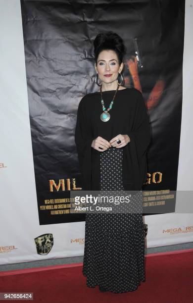 Actress Adrienne Wilkinson arrives for the Los Angeles Premiere of 'Miles To Go' held at Writers Guild Theater on April 5 2018 in Beverly Hills...