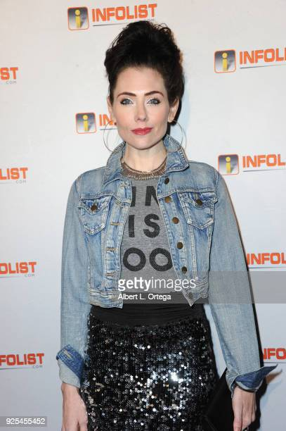Actress Adrienne Wilkinson attends the INFOListcom's PreOscar Soiree and Jeff Gund Birthday Party held at Mondrian Sky Bar on February 27 2018 in...