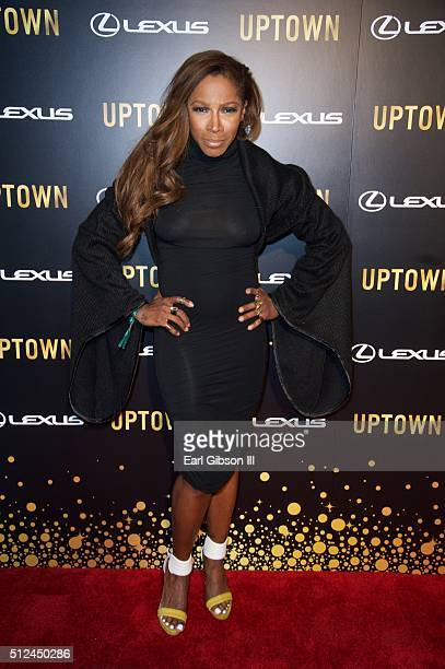 Actress AdrienneJoi Johnson attends the Uptown Honors Hollywood Celebration at Lure on February 25 2016 in Los Angeles California