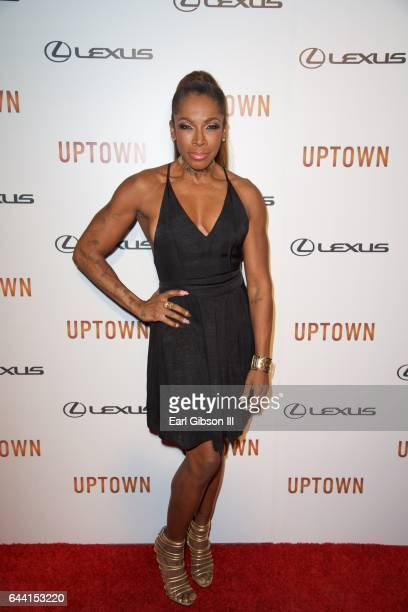 Actress AdrienneJoi Johnson attned Uptown Magazine's PreOscar Gala on February 22 2017 in Los Angeles California