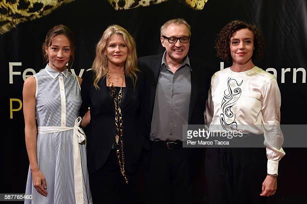 Actress Aenne Schwarz Barbara Sukowa Josef Hader and Maria Schrader attend 'Vor Der MorgenroteStefan Zweig in Amerika' premiere during the 69th...