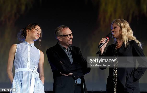 Actress Aenne Schwarz Josef Hader and Barbara Sukowa attend 'Vor Der MorgenroteStefan Zweig in Amerika' premiere during the 69th Locarno Film...
