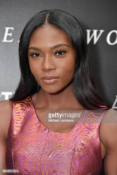 Actress Afiya Bennett attends the New York screening of 'Woman Walks Ahead' at the Whitby Hotel on June 26 2018 in New York City
