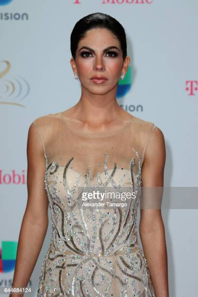 Actress Africa Zavala attends Univision's 29th Edition of Premio Lo Nuestro A La Musica Latina at the American Airlines Arena on February 23 2017 in...