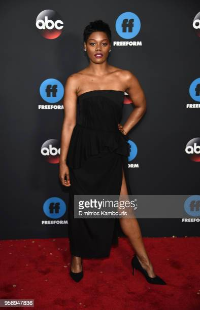 Actress Afton Williamson attends during 2018 Disney ABC Freeform Upfront at Tavern On The Green on May 15 2018 in New York City