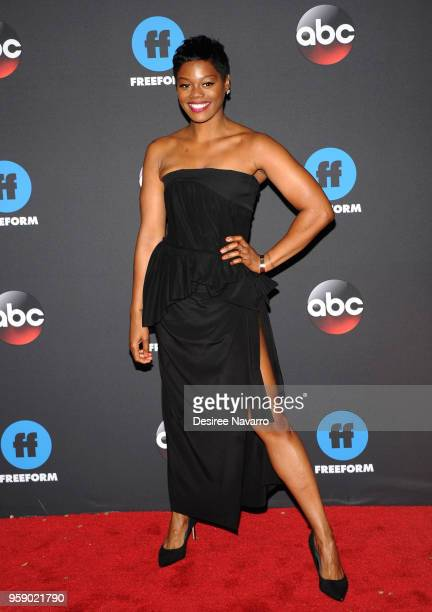 Actress Afton Williamson attends the 2018 Disney ABC Freeform Upfront on May 15 2018 in New York City