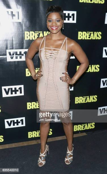 Actress Afton Williamson attends 'The Breaks' series premiere at Roxy Hotel on February 15 2017 in New York City