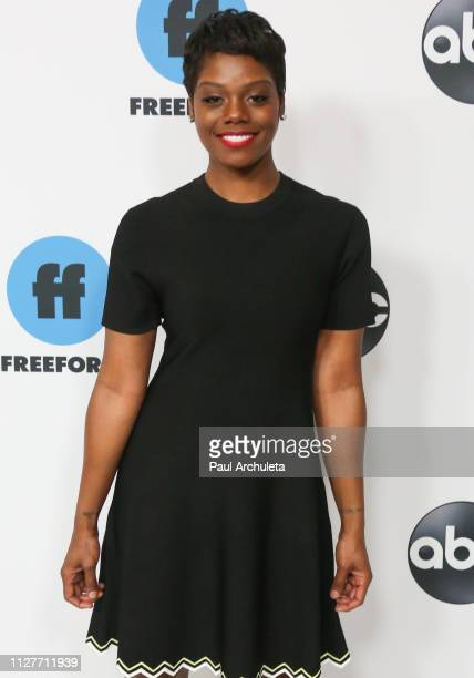 Actress Afton Williamson attends the Disney and ABC Television 2019 TCA Winter press tour at The Langham Huntington Hotel and Spa on February 05 2019...