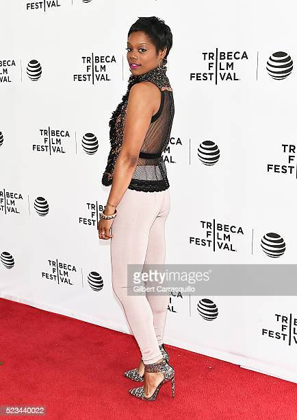 Actress Afton Williamson attends Tribeca Tune In 'The Night Of' Screening during 2016 Tribeca Film Festival at SVA Theatre 1 on April 22 2016 in New...