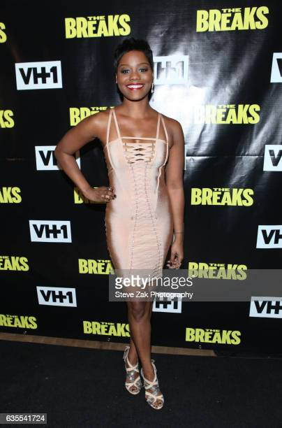 Actress Afton Williamson attends VH1s 'The Breaks' series premiere event at Roxy Hotel on February 15 2017 in New York City