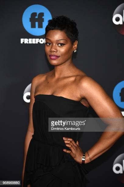 Actress Afton Williamson of The Rookie attends during 2018 Disney ABC Freeform Upfront at Tavern On The Green on May 15 2018 in New York City