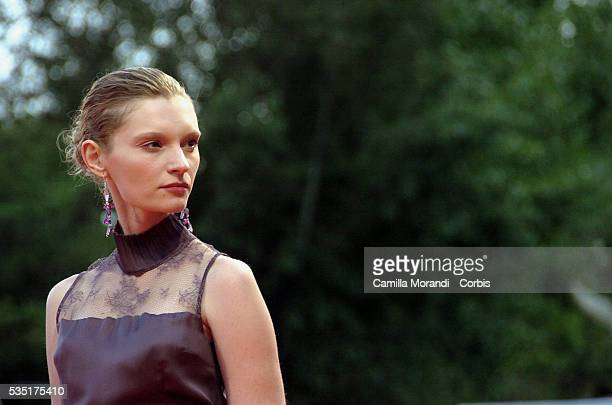 Actress Agata Buzek attends the premiere of 'Nightwatching' during the 64th Venice Film Festival
