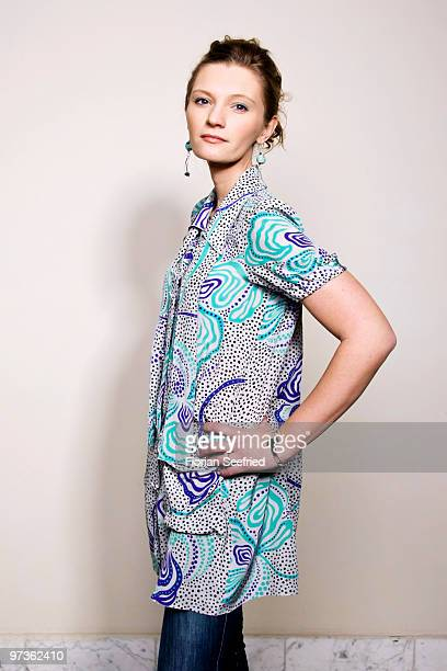 Actress Agata Buzek poses for a picture during the shooting stars portrait session during the 60th Berlin International Film Festival at Palmen...