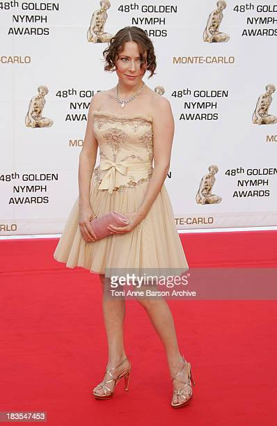 Actress Agata Gotova attends the Golden Nymph awards ceremony during the 2008 Monte Carlo Television Festival held at Grimaldi Forum on June 12 2008...