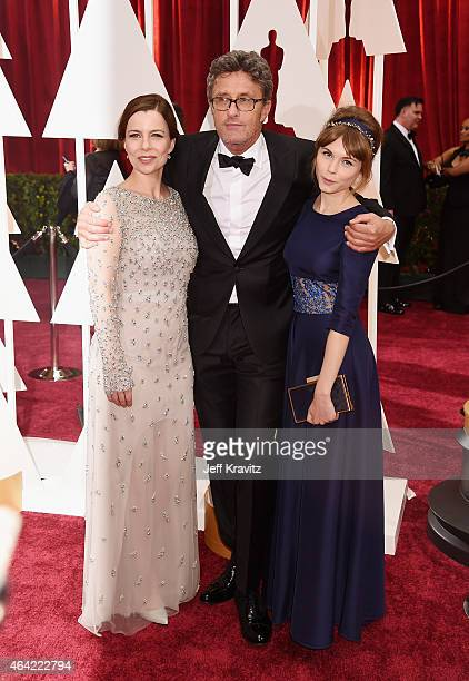 Actress Agata Kulesza, Director Pawel Pawlikowski and actress Agata Trzebuchowska attend the 87th Annual Academy Awards at Hollywood & Highland...