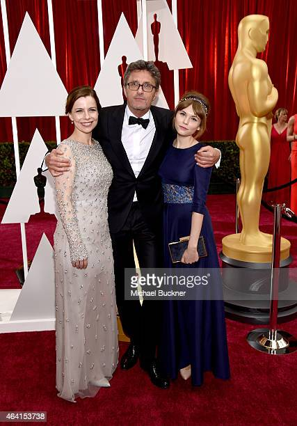 Actress Agata Kulesza Writer Director Pawel Pawlikowski and actress Agata Trzebuchowska attend the 87th Annual Academy Awards at Hollywood Highland...