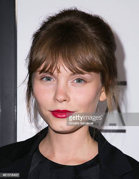 Actress Agata Trzebuchowska attends The 40th Annual Los Angeles Film Critics Association Awards at Intercontinental Century City on January 10, 2015...