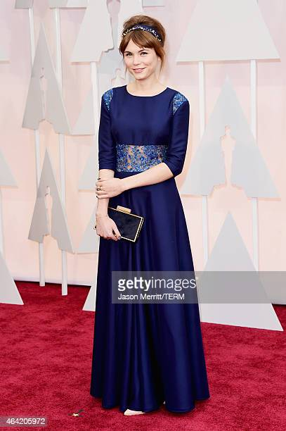 Actress Agata Trzebuchowska attends the 87th Annual Academy Awards at Hollywood & Highland Center on February 22, 2015 in Hollywood, California.