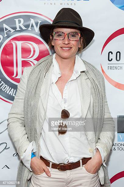Actress Agathe de la Boulaye arrives at COLCOA French Film Festival Barnes After Party at Heritage Fine Wines on April 24 2015 in Beverly Hills...
