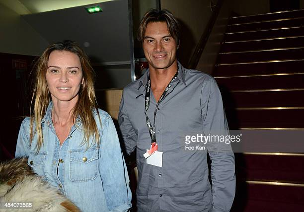 Actress Agathe de La Fontaine and Hira Teriinatoofa attend the 'Nuit de La Glisse 2013' At Le Grand Rex on December 6 2013 in Paris France