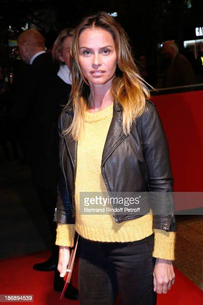 Actress Agathe de La Fontaine attends 'La Venus a La Fourrure Venus in Fur' Premiere at Cinema Gaumont Marignan on November 4 2013 in Paris France