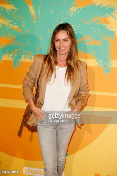 Actress Agathe de La Fontaine attends 'MILF' Paris Premiere at Cinema Gaumont Capucine on April 17 2018 in Paris France
