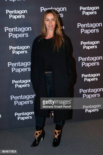 Actress Agathe de La Fontaine attends the 'Pentagon Papers' Paris Premiere at Cinema UGC Normandie on January 13 2018 in Paris France
