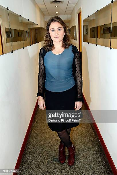 Actress Agathe Dronne attends 'Vivement Dimanche' French TV Show at Pavillon Gabriel on December 9 2015 in Paris France
