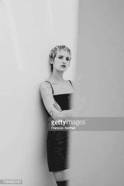 Actress Agathe Rousselle poses for a portrait during the 74th Cannes International Film Festival, on July 14, 2021 in Cannes, France.