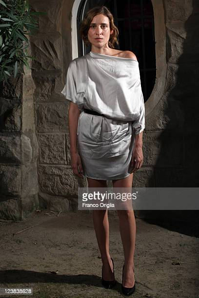 Actress Aggeliki Papoulia attends the 'Alpis' portrait session during the 68th Venice Film Festival at the Excelsior Hotel on September 3 2011 in...
