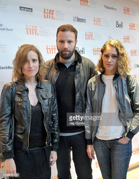 Actress Aggeliki Papoulia director Giorgos Lanthimos and actress Ariane Labed attends Alps Premiere at Isabel Bader Theatre during the 2011 Toronto...