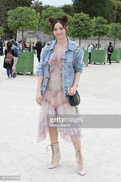 Actress Aggie Hsieh attends the Carven show as part of the Paris Fashion Week Womenswear Spring/Summer 2017 on September 29 2016 in Paris France