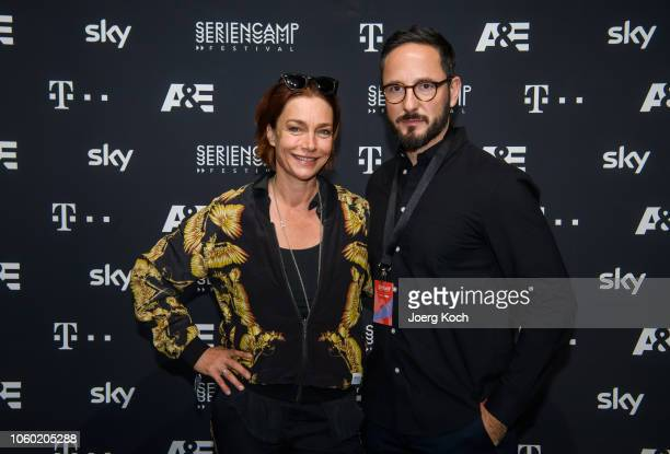 Actress Aglaia Szyszkowitz and Director Production History and AE Germany Emanuel Rotstein attend the world premiere of the new documentary 'Total...