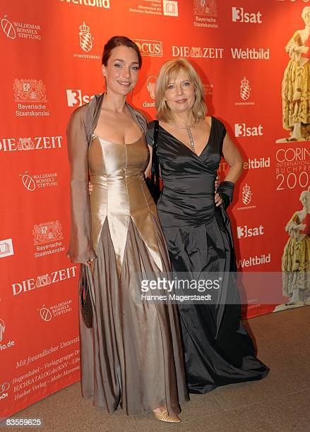 Actress Aglaia Szyszkowitz and Sabine Postel attend the Corine Award 2008 at the Prinzregententheater on November 4 2008 in Munich Germany The Corine...