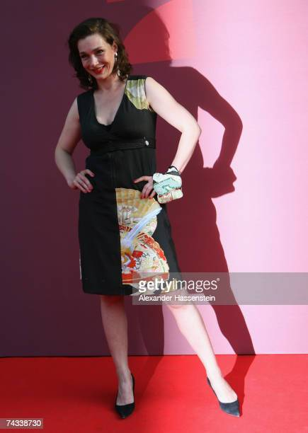 Actress Aglaia Szyszkowitz arrives for the 'Blaue Panther' Bavarian Television Award 2007 Ceremony at the Prinzregenten Theater on May 25 2007 in...