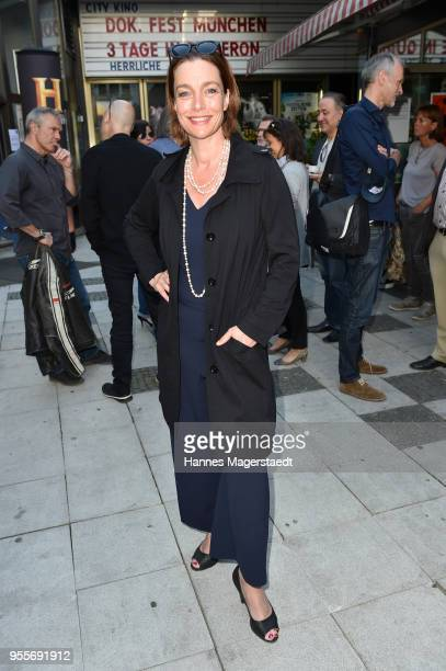 Actress Aglaia Szyszkowitz attends a photo call for new documentary 'Guardians of Heritage Hueter der Geschichte' by German TV channel HISTORY on May...