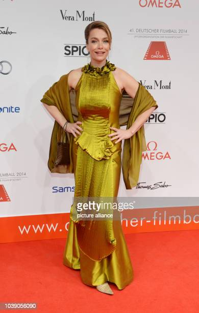 Actress Aglaia Szyszkowitz attends the 41st German Filmball in the hotel Bayerischer Hof in Munich Germany 18 January 2014 Photo Robias Hase/dpa |...