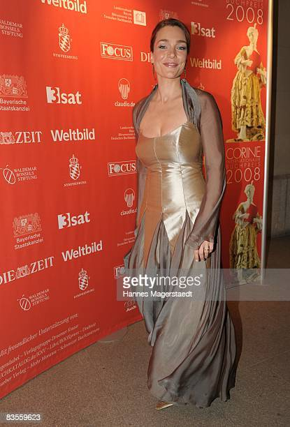 Actress Aglaia Szyszkowitz attends the Corine Award 2008 at the Prinzregententheater on November 4 2008 in Munich Germany The Corine Awards are...
