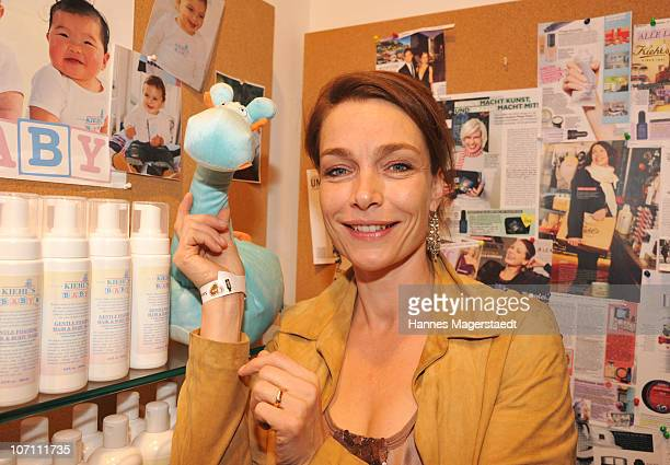 Actress Aglaia Szyszkowitz attends the Kiehl's Store Opening on November 24 2010 in Munich Germany