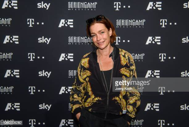 Actress Aglaia Szyszkowitz attends the world premiere of the new documentary 'Total Control Im Bann der Seelenfaenger' by German TV channel AE during...