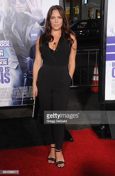 Actress Agnes Bruckner arrives at the premiere of Warner Bros Pictures' 'Our Brand Is Crisis' at TCL Chinese Theatre on October 26 2015 in Hollywood...