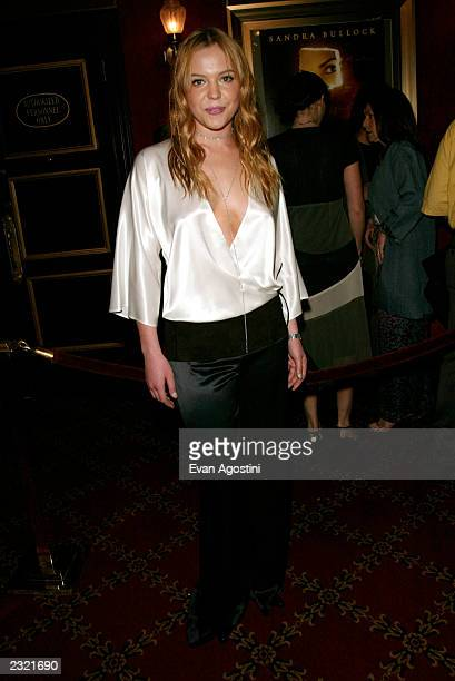 Actress Agnes Bruckner arriving at the Murder By Numbers film premiere at the Ziegfeld Theatre in New York City April 16 2002 Photo Evan...