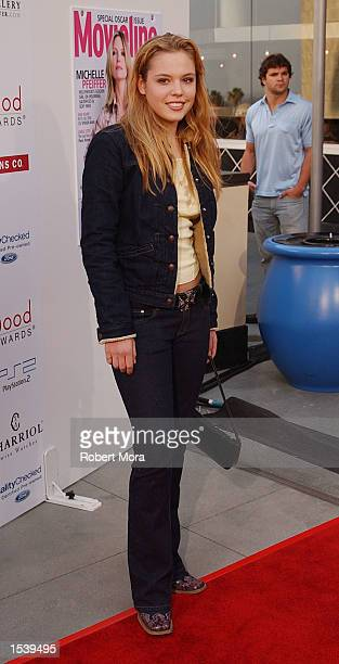 Actress Agnes Bruckner attends the 4th Annual Young Hollywood Awards by Movieline May 5 2002 in Hollywood CA