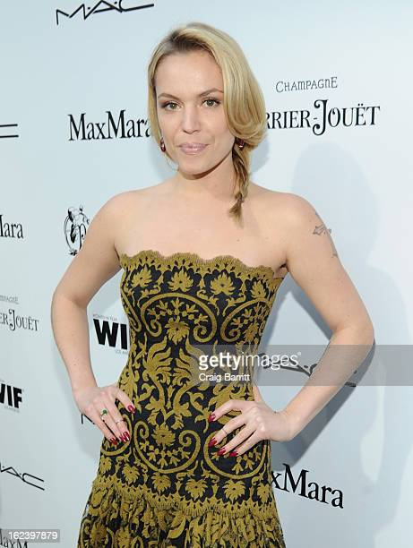 Actress Agnes Bruckner attends the 6th Annual Women In Film PreOscar Party hosted by Perrier Jouet MAC Cosmetics and MaxMara at Fig Olive on February...