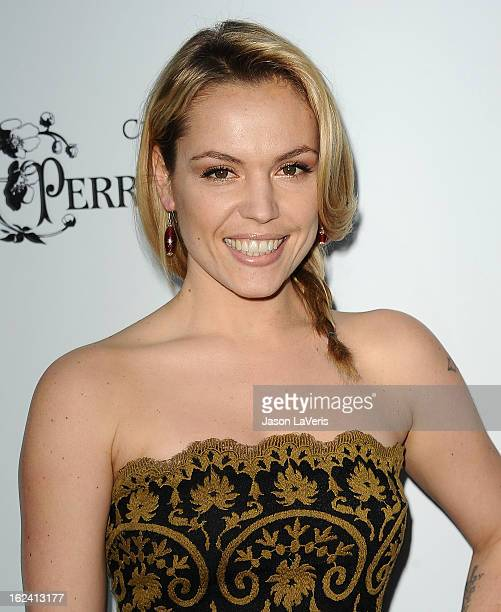 Actress Agnes Bruckner attends the 6th annual Women In Film preOscar cocktail party at Fig Olive Melrose Place on February 22 2013 in West Hollywood...