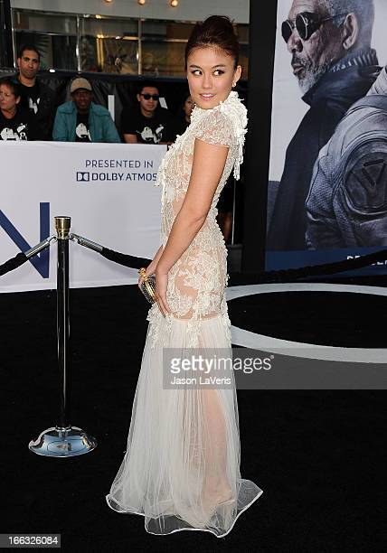 Actress Agnes Monica attends the premiere of 'Oblivion' at the Dolby Theatre on April 10 2013 in Hollywood California