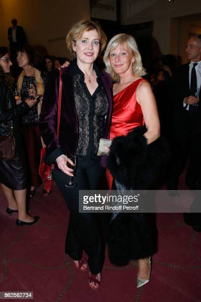 Actress Agnes Soral and Elisa Servier attend the 25th Gala de l'Espoir at Theatre des ChampsElysees on October 17 2017 in Paris France