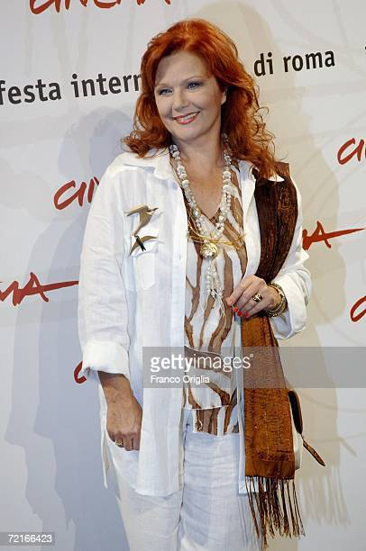 Actress Agostina Belli attends a photocall to promote the movie Uno Su Due on the second day of Rome Film Festival on October 14 2006 in Rome Italy
