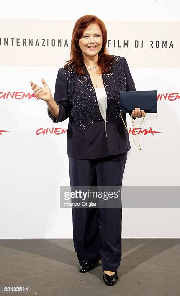 Actress Agostina Belli attends the 'Amoure Che Vieni Amore Che Vai' Premiere during the 3rd Rome International Film Festival held at the Auditorium...